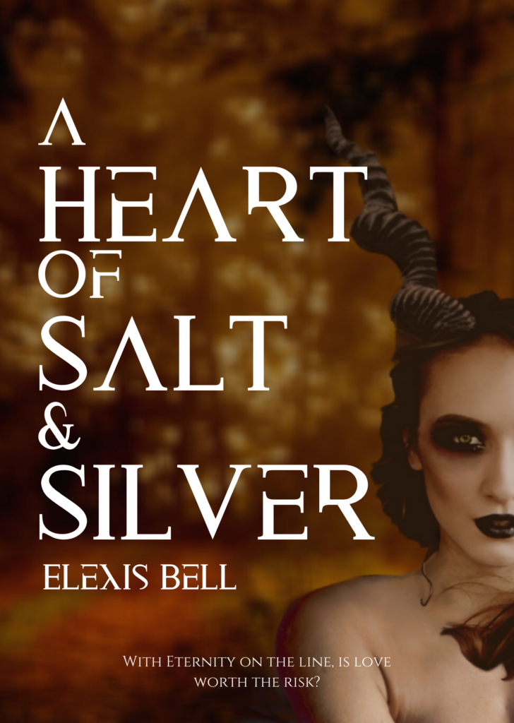 Cover of A Heart of Salt & Silver; dark paranormal high fantasy romance novel